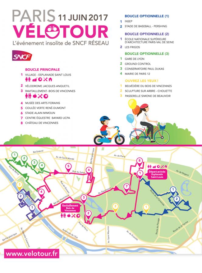 Parcours - Paris Vélo tour